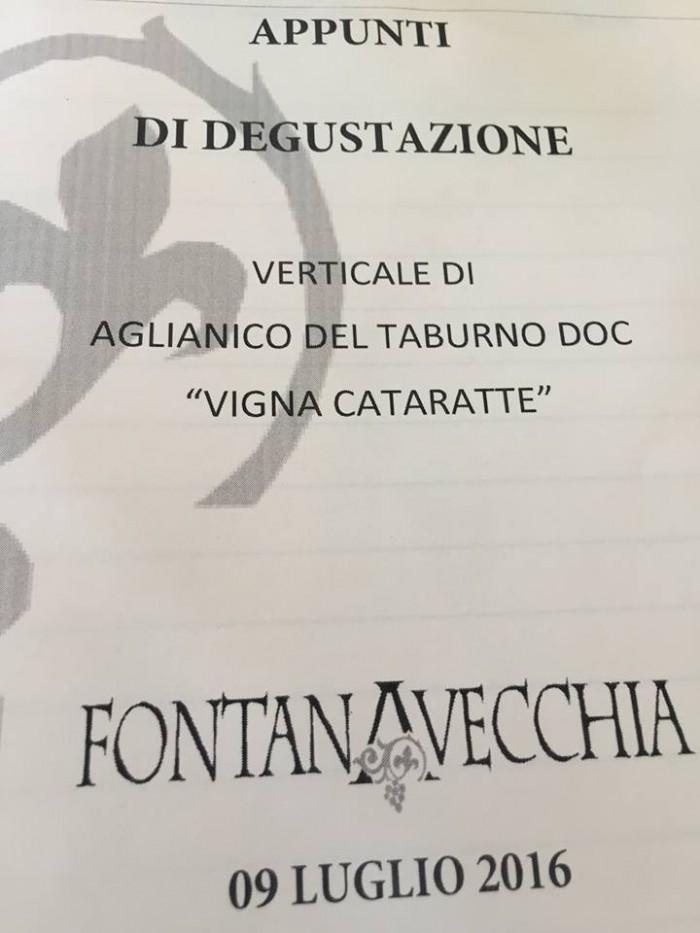 Verticale Vigna Cataratte di Fontanavecchia