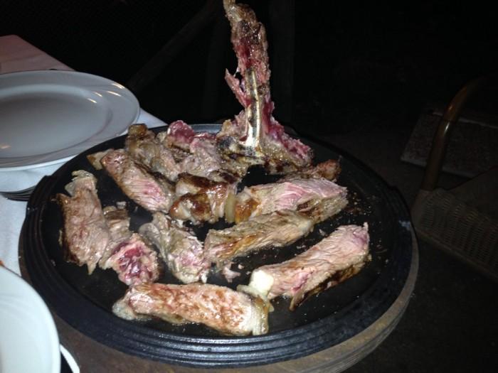 Ristorante Il Rifugio, bistecca chianina