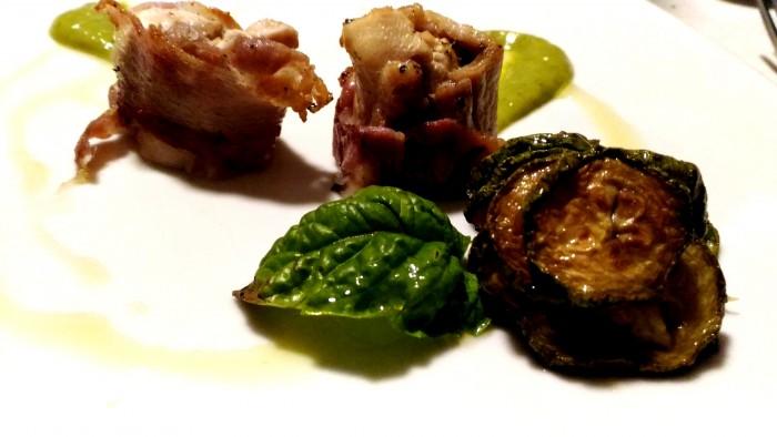 Agriturismo Don  Salvatore, coniglio in porchetta su salsa alla scapece