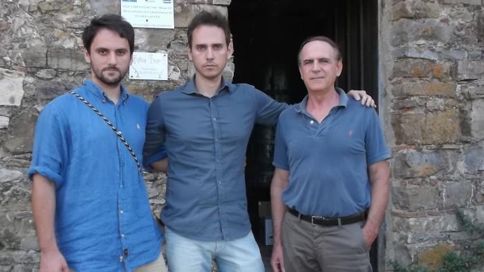 Da sx Andrea, Michele e Fausto Siniscalchi