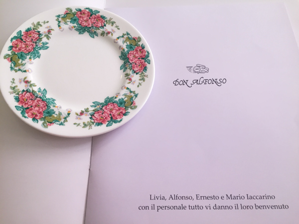 Don Alfonso dal 1890-Il menu'