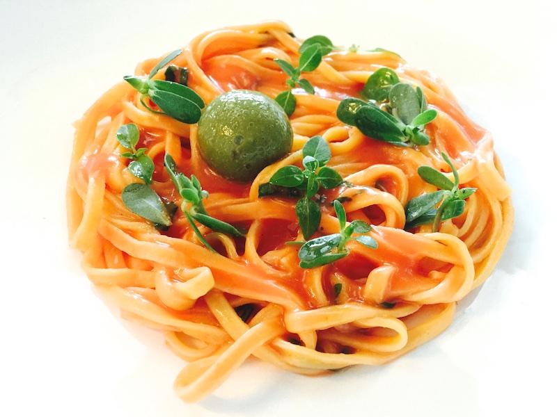 Ristorante Berton, Insalata di spaghetti al pomodoro, basilico e olive