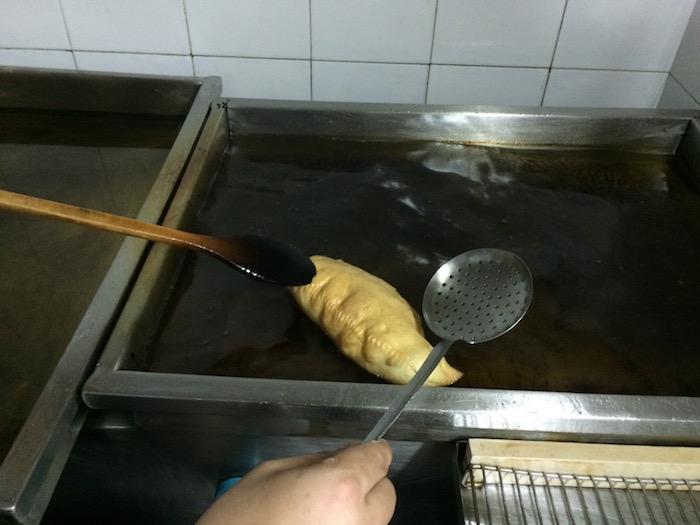 Il Grottino, frittura del panzerotto