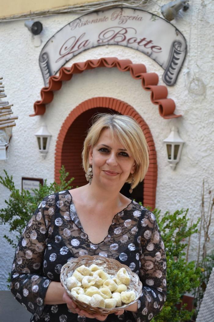 LA BOTTE Mariapia D'auria, titolare del ristorante La Botte