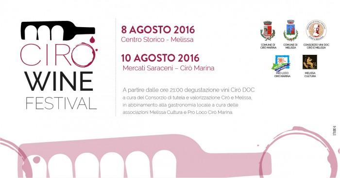 Locandina Ciro' Wine Festival