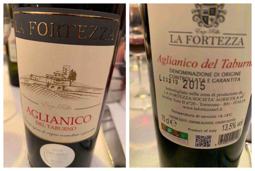 Ristorante Nunzia, il vino