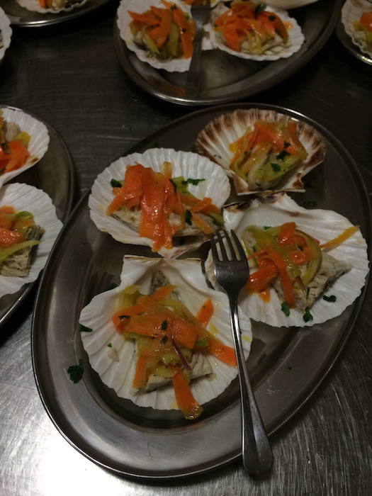 Cena sul Trabocco, Sgombro marinato