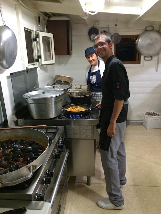 Cena sul Trabocco, Staff di Cucina
