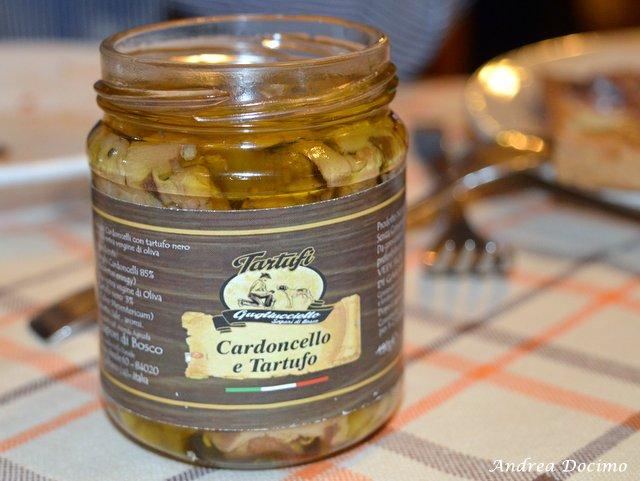 Trattoria Al Mulino di Cristian Torsiello. Funghi cardoncelli e tartufo nero sott'olio
