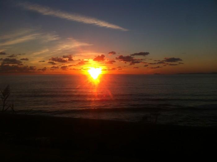 Ascea, tramonto