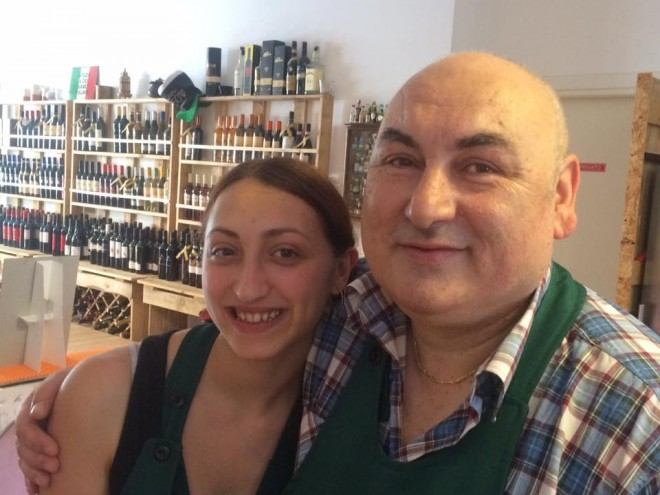 Gian Pietro Luzi con Cinzia