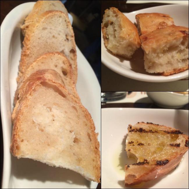 La Trattoria di Oscar, bruschetta, focaccia e pane