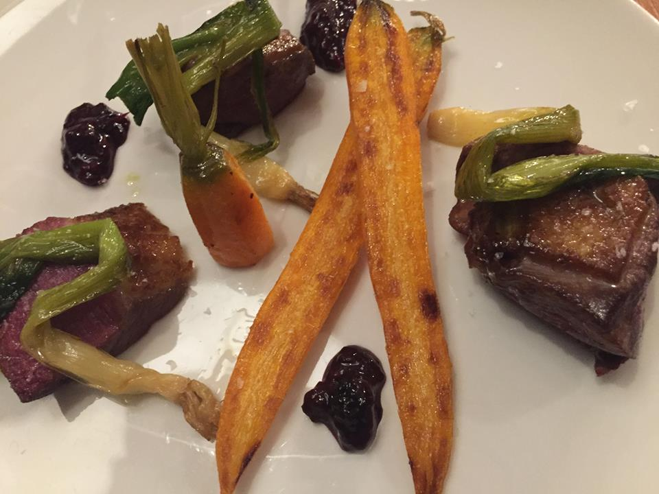 Magazzino 52 Torino, petto d'anatra, carote e cipollotti