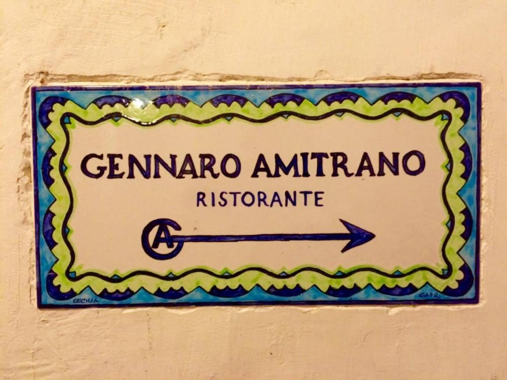 Ristorante Gennaro Amitrano,  Maiolica Segnaletica