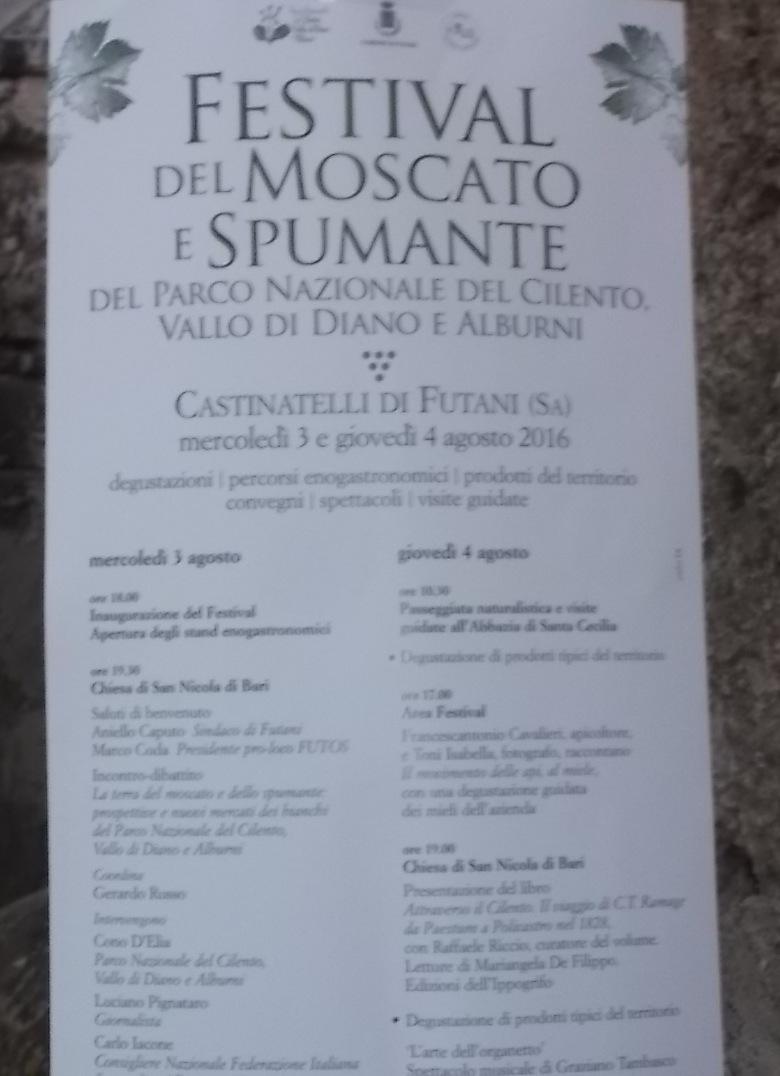 Castinatelli di Futani Locandina del Festiva del Moscato e Spumante