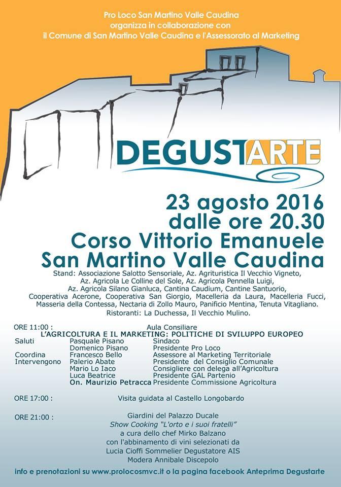DEGUSTARTE locandina 2016
