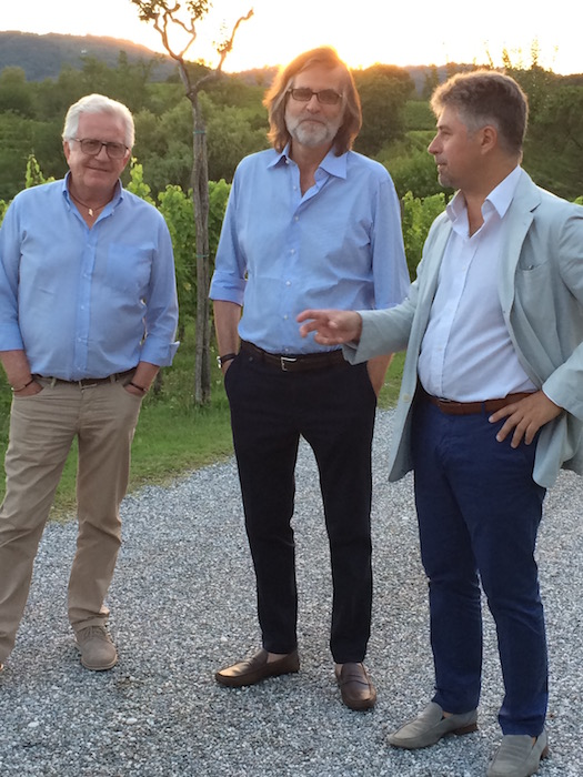 Da sinistra Mario Busso, Roberto Felluga, Stefano Cosma