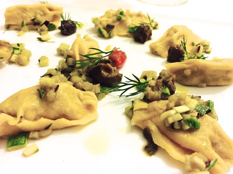 I Sette Consoli, Fagottini di coniglio, piccola ratatuia di zucchine e melanzane, lumache alle erbe