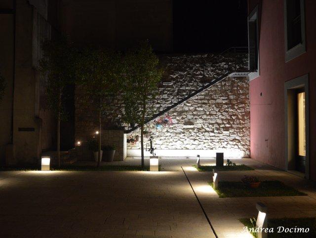 La Locanda di Bu a Nusco. Il cortile di sera