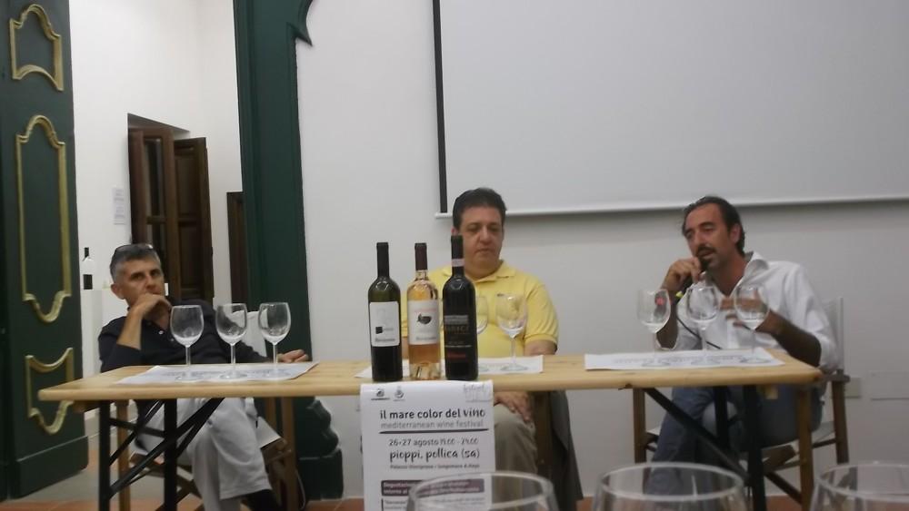 Mediterranean Wine Festival da sx Piero Mastroberardino, Luciano Pignataro e Stefano Pisani
