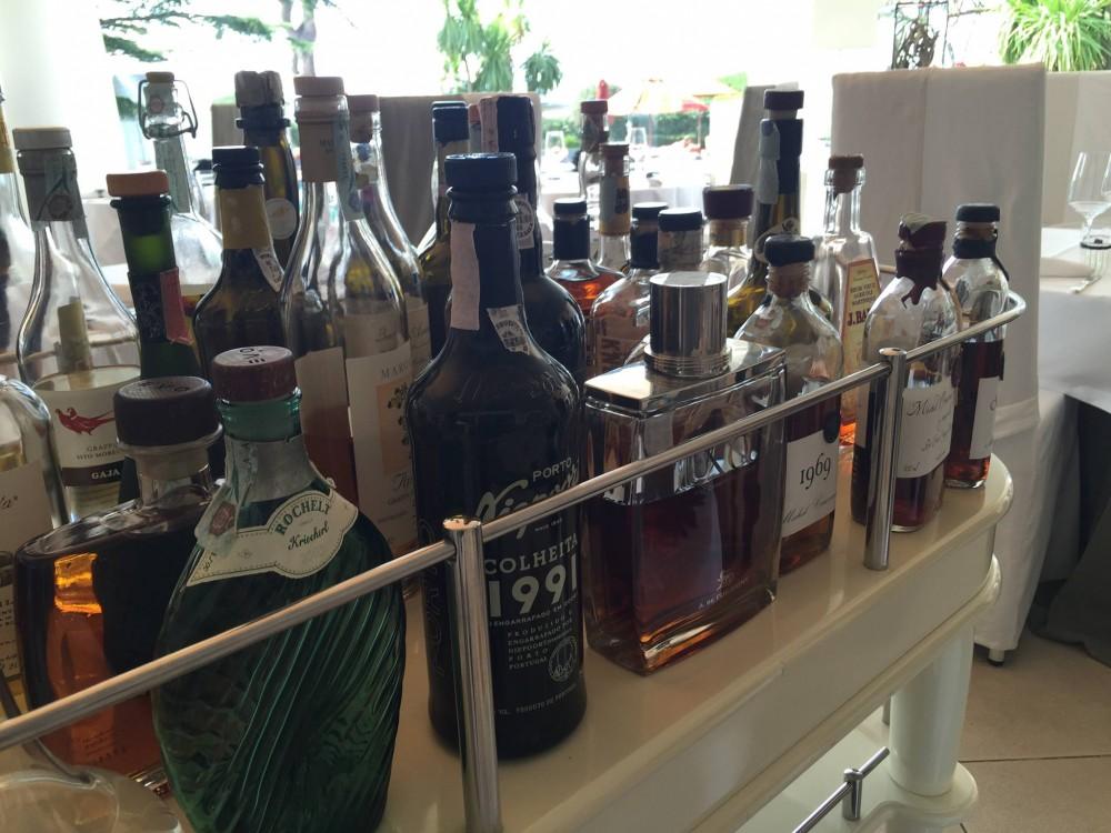 Olivo Capri Palace, carrello dei liquori