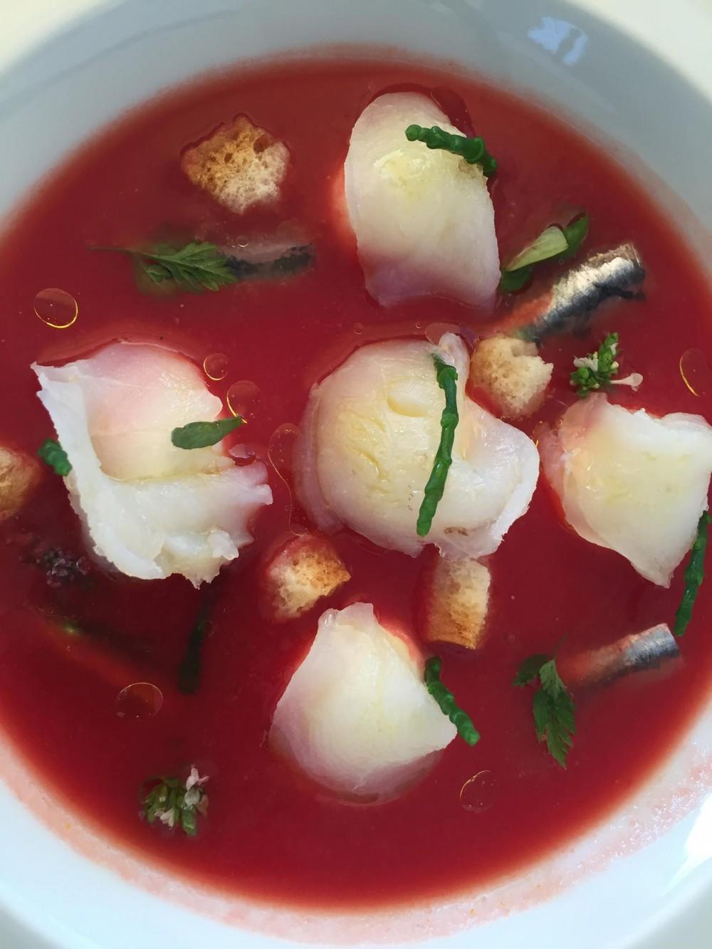 Olivo Capri Palace, zuppa fredda di pomodoro