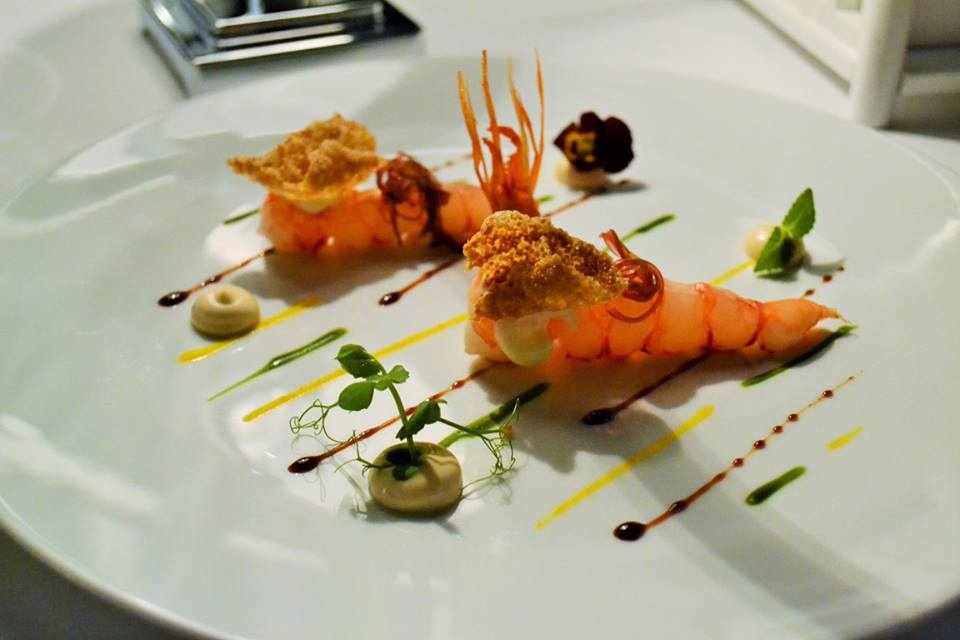RADA Restaurant Gambero, amaranto e salsa teriyaki
