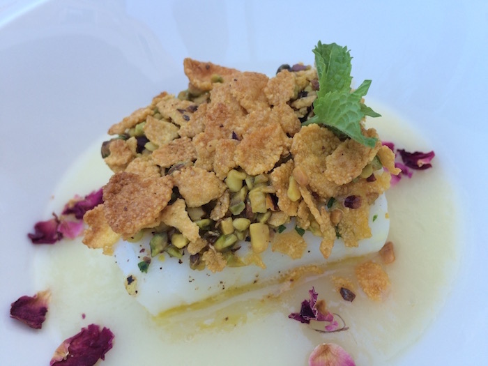 Ristorante Gallo, Baccala' Morro con cream di patate, pistacchio