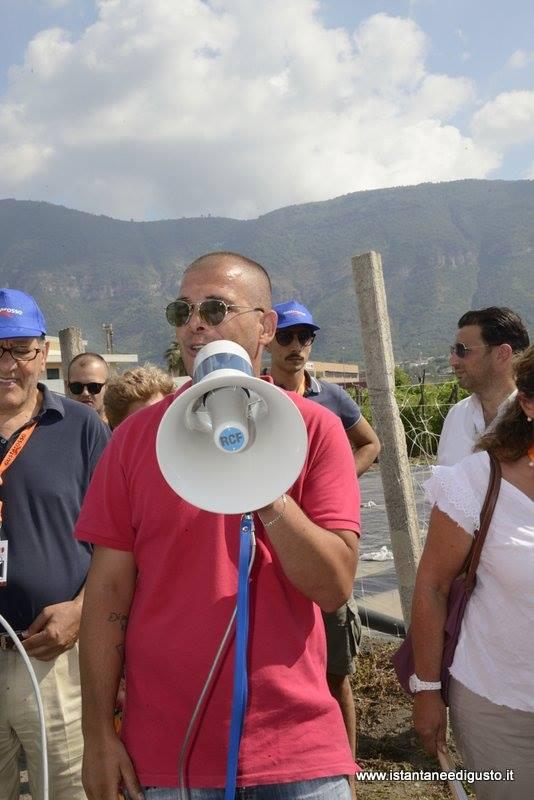 San marzano day, Paolo Ruggiero che arringa la folla