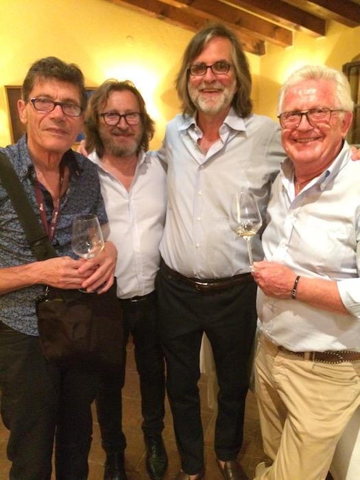 da sinistra Luigi Cremona, Paolo Ianna, Roberto Felluga, Mario Busso