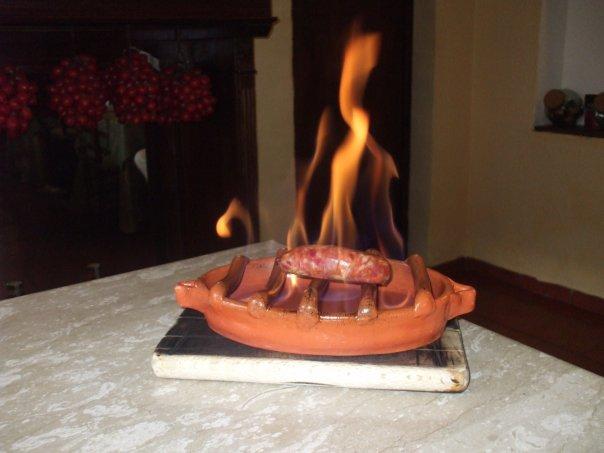 Salsiccia di Don Enzo cotta al flambe'