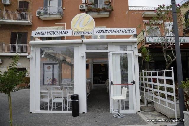 10 Pizzeria Diego Vitagliano l'ingresso