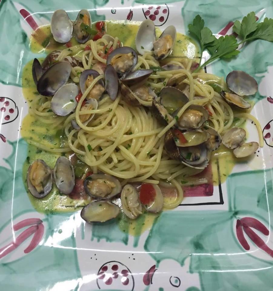 Spaghetto a vongole, Garden, Ravello