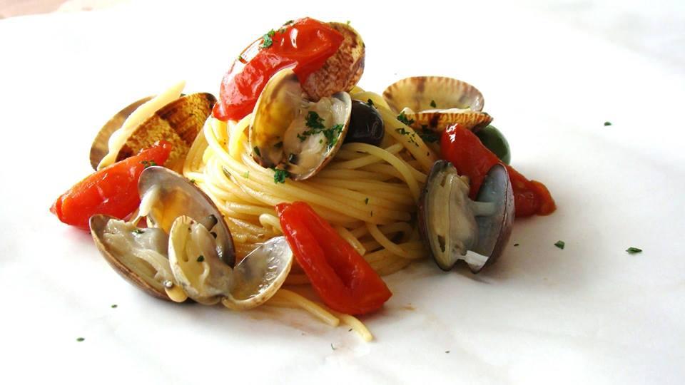 Spaghetto a vongole, Ciccio Cielo Mare e  Terra, Vettica di Amalfi