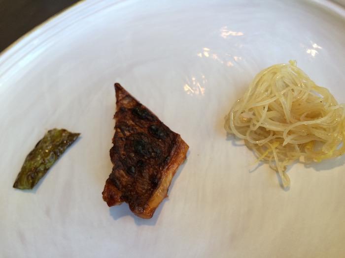Bross Lecce, Filetto di Dentice laccato con soia e cotto ai Carboni