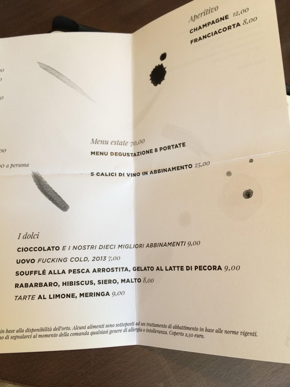 Bross  Lecce,  menu