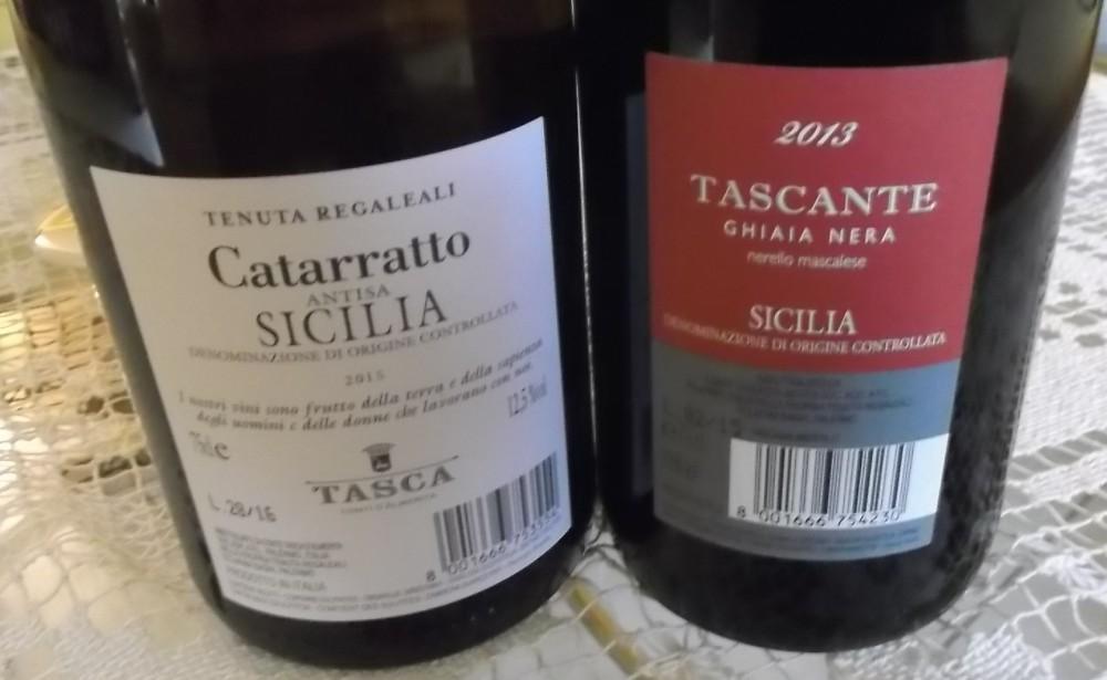 Controetichetta vini di Tasca d'Almerita vincitori a Radici del Sud 2016