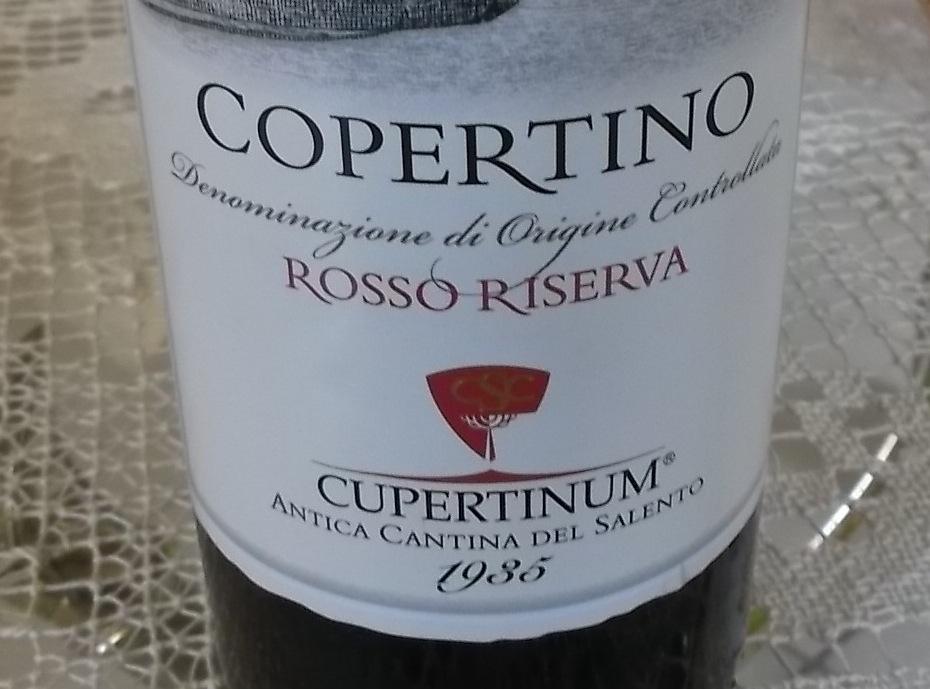 Copertino Rosso Riserva Doc 2008 Cupertinum