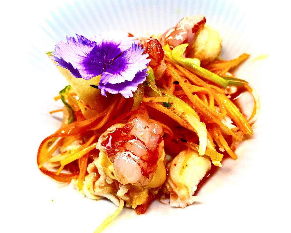 Roji, King Crab Salad con Gamberi Rossi e Scampi in Tempura