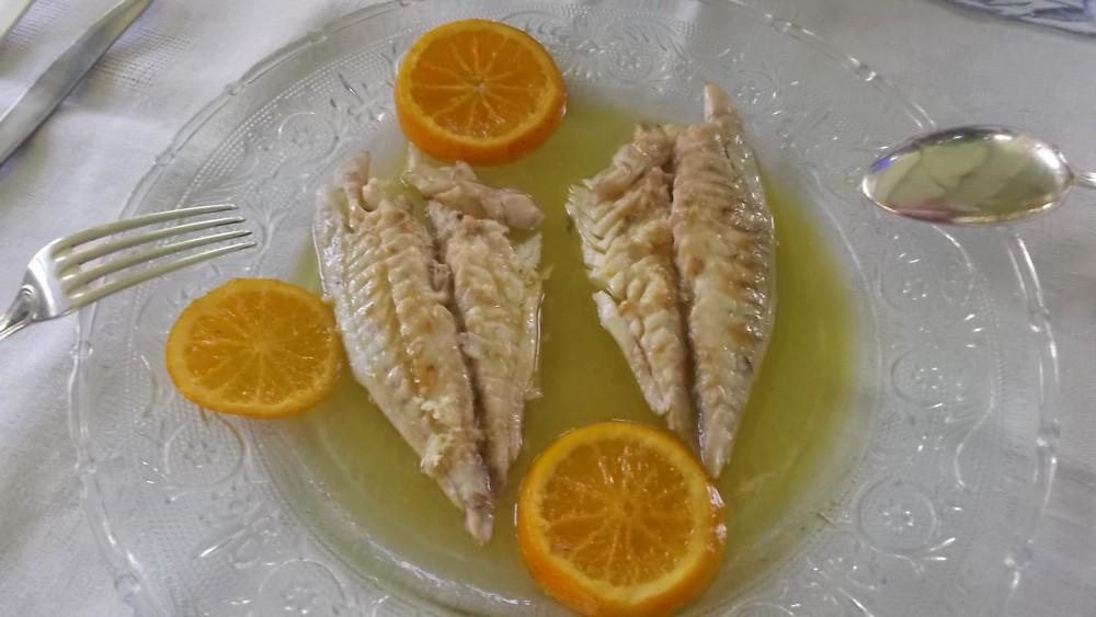 Giacaranda, Orata con crema agli agrumi