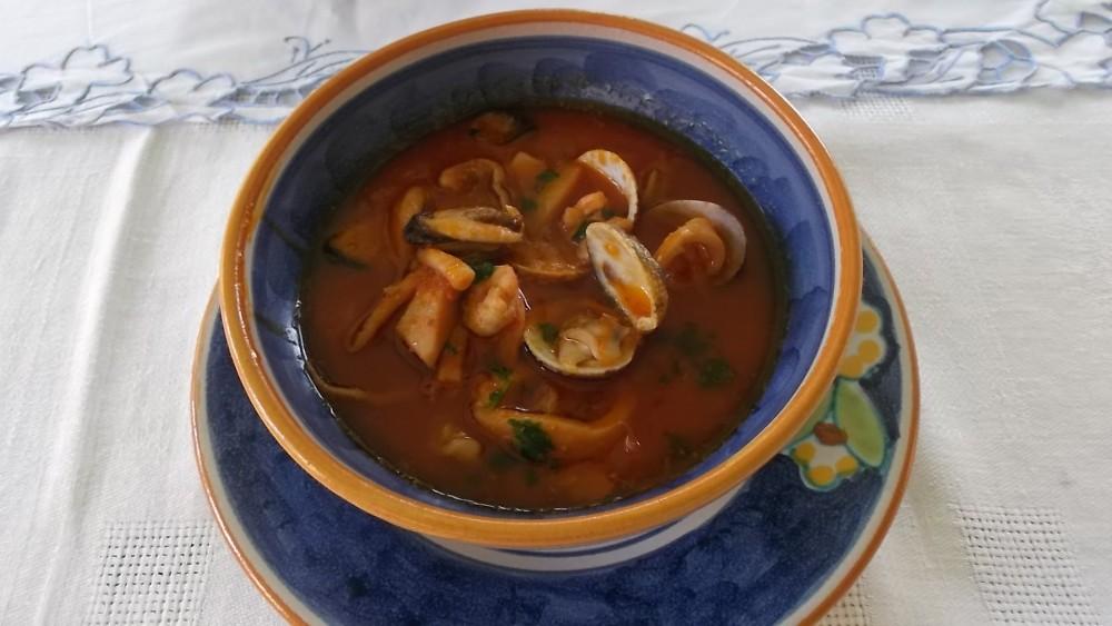 Giacaranda, Zuppa di pesce alla Cilentana