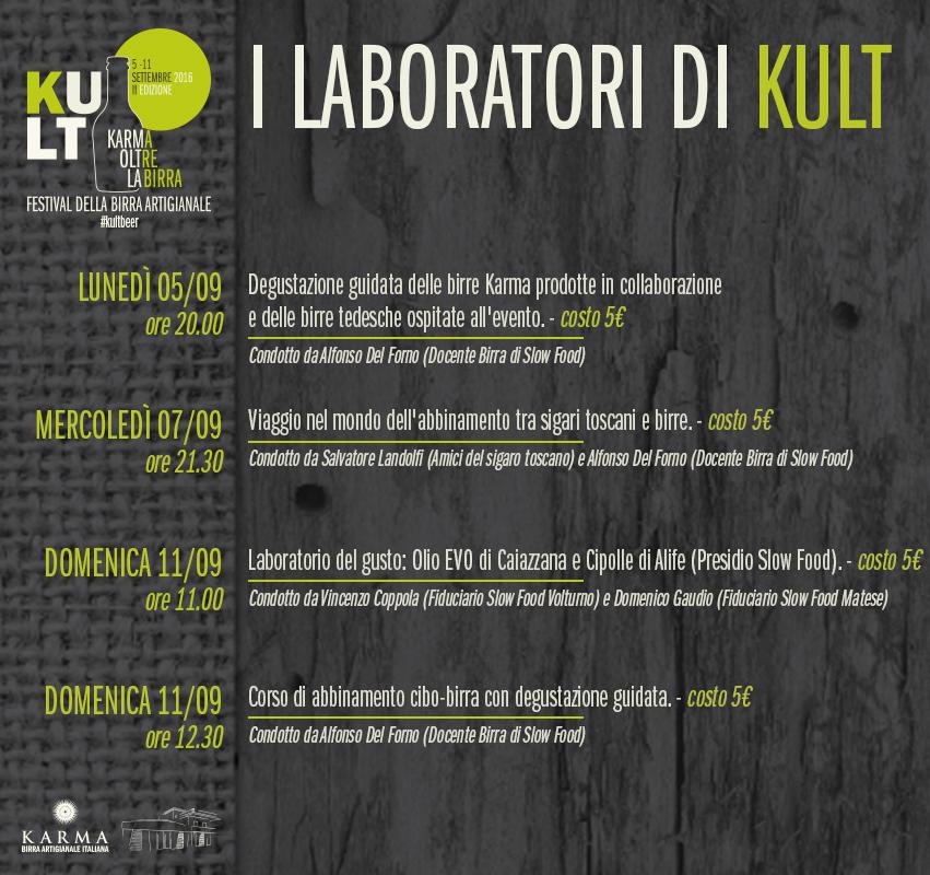 KULT - Karma Oltre La Birra. I laboratori