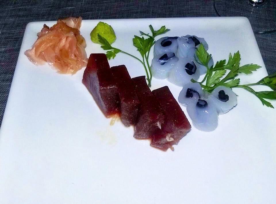 Kukai, Sashimi Tonno, Calamaro