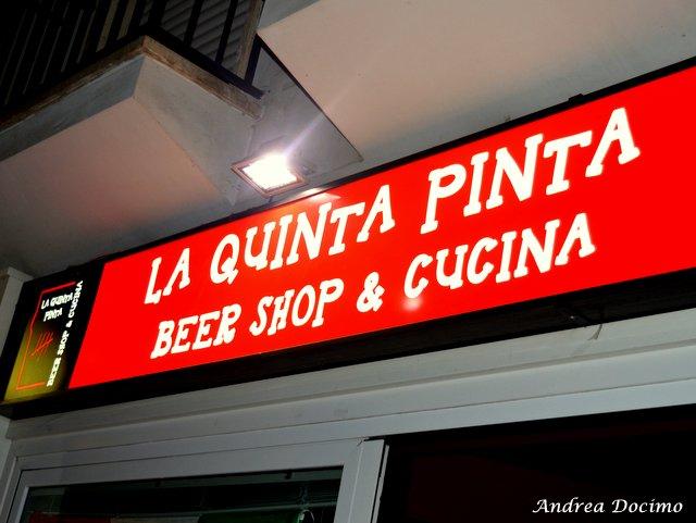 La Quinta Pinta a Caserta. L'insegna del pub