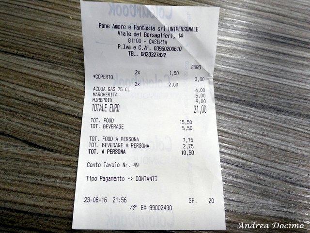 La classifica delle migliori pizzerie della provincia di Caserta. Lo scontrino di Morsi e Rimorsi a Caserta
