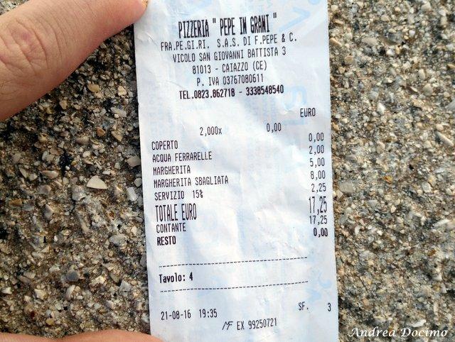 La classifica delle migliori pizzerie della provincia di Caserta. Lo scontrino di Pepe in Grani di Franco Pepe a Caiazzo