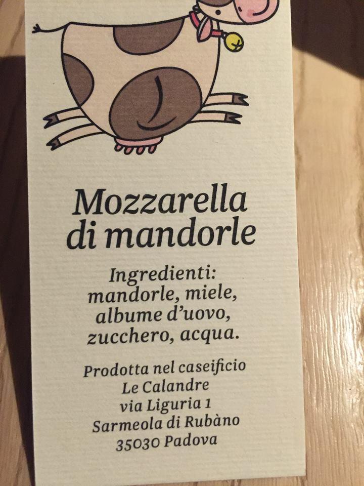 Le Calandre, Mozzarella di Mandorle