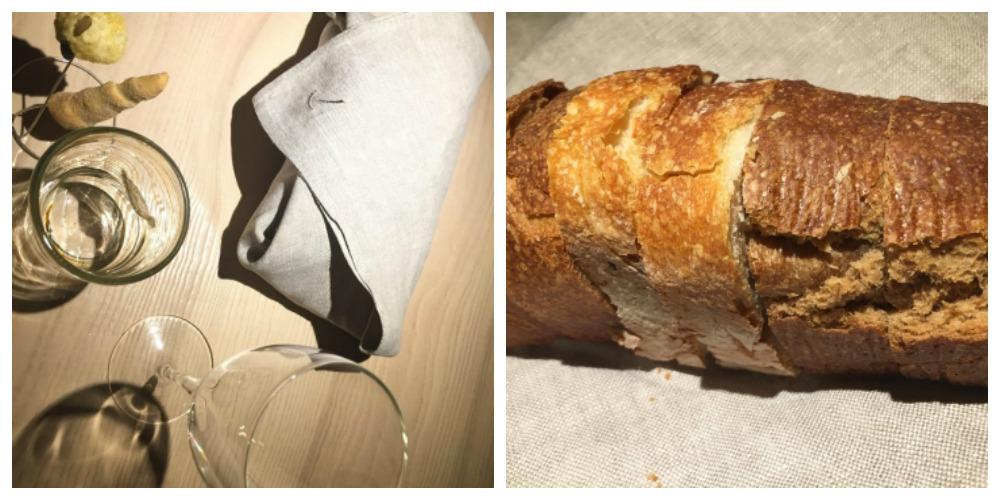 Le Calandre, mise en place e il pane a centro tavola