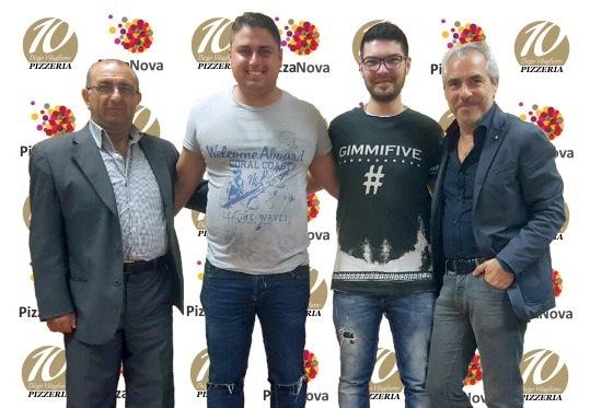 Lo staff di Pizza Nova Giuseppe Gargiulo Diego Vitagliano Ferdinando e Rosario Guido