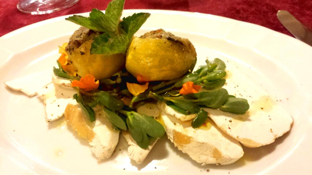 Patate, lumache e langermannia. Osteria Morelli